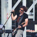 Na zdjęciu muzyk tworzący pod speudonimem K-Essence, podczas koncertu pod wieżą szybku Krystyn, przy SCK- Parku Tradycji. Foto Monika Bilska