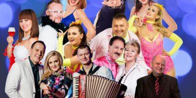 Na zdjęciu artyści występujący podczas koncertu Szlagierowo i z humorem
